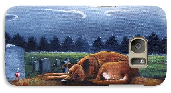 Galaxy Case featuring the painting The Watchman by Gene Gregory
