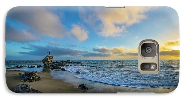 Galaxy Case featuring the photograph The Woman And Sea by Sean Foster