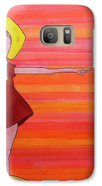 Galaxy Case featuring the painting They Were Warned by Donna Howard