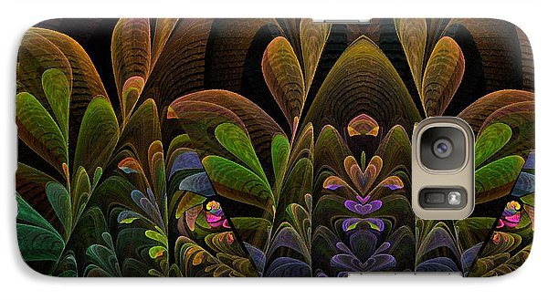 Galaxy Case featuring the digital art This Peculiar Life - Fractal Art by NirvanaBlues