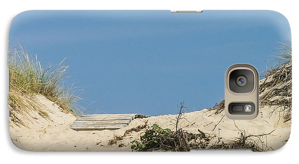Galaxy Case featuring the photograph This Way To The Beach by Michelle Wiarda