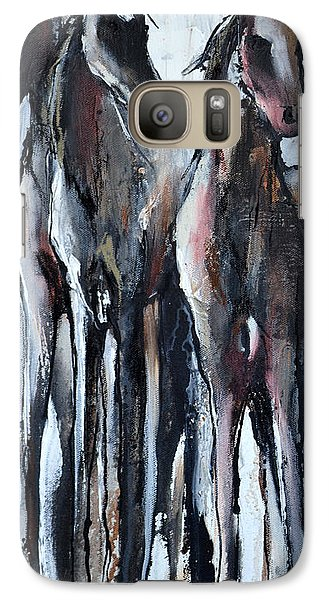 Galaxy Case featuring the painting Three by Cher Devereaux