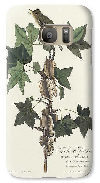 Flycatcher Galaxy S7 Case - Traill's Flycatcher by John James Audubon