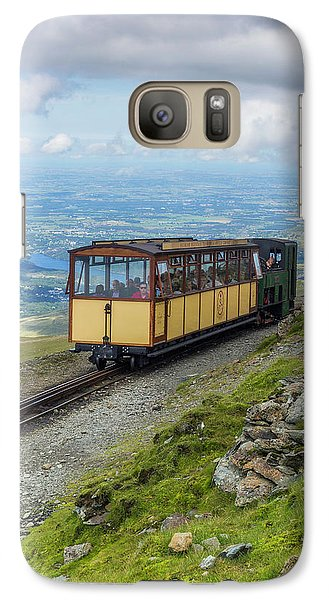 Galaxy Case featuring the photograph Train To Snowdon by Ian Mitchell