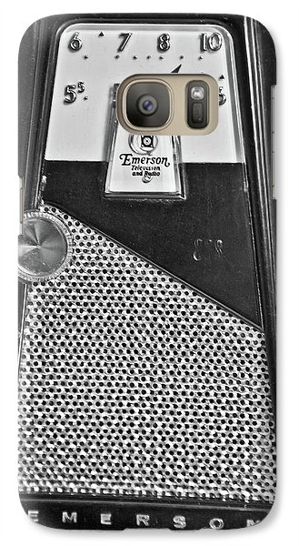 Galaxy Case featuring the photograph Transistor Radio Blown Up by Matthew Bamberg