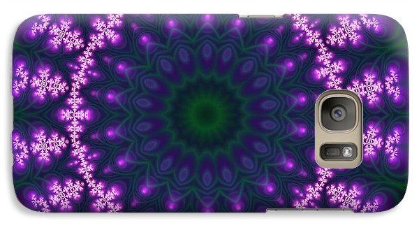 Galaxy Case featuring the digital art Transition Flower  by Robert Thalmeier