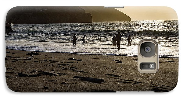Galaxy Case featuring the photograph Photographs Of Cornwall Trevellas Cove Cornwall by Brian Roscorla