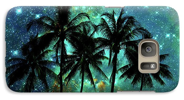 Galaxy Case featuring the photograph Tropical Night by Delphimages Photo Creations