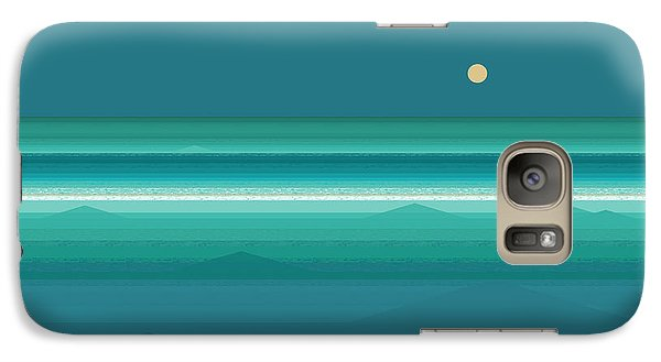 Galaxy Case featuring the digital art Tropical Sea Moonrise by Val Arie