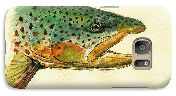 Trout Watercolor Painting Galaxy S7 Case