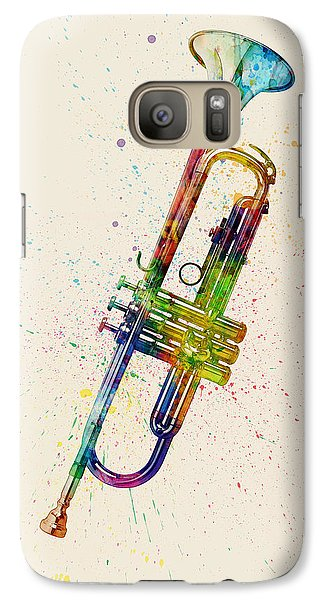 Trumpet Galaxy S7 Case - Trumpet Abstract Watercolor by Michael Tompsett