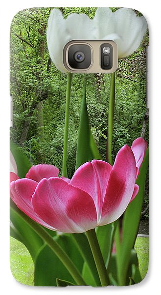 Galaxy Case featuring the photograph Tulips by Bonnie Willis