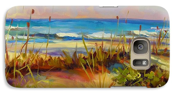 Galaxy Case featuring the painting Turquoise Tide by Chris Brandley