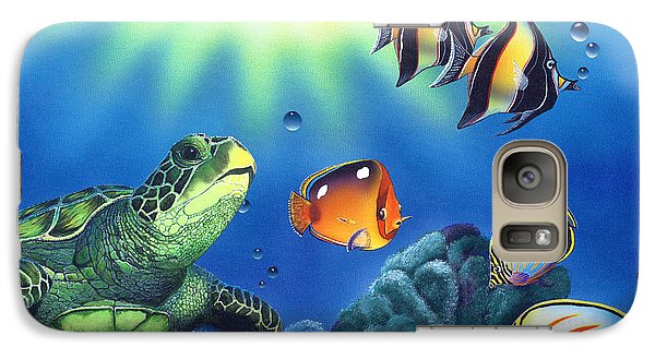 Turtle Dreams Galaxy S7 Case by Angie Hamlin