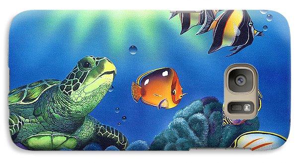Turtle Dreams Galaxy Case by Angie Hamlin