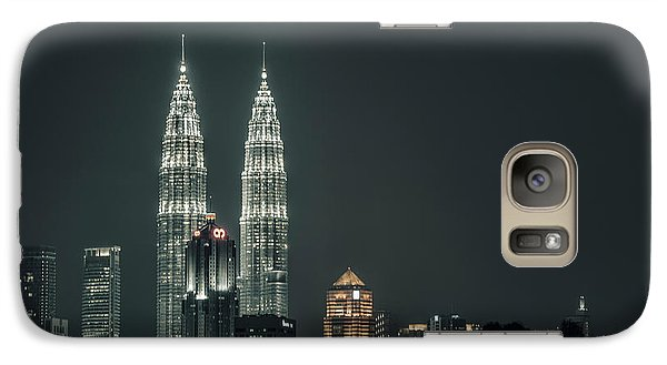 Galaxy Case featuring the photograph Twin Towers by Charuhas Images