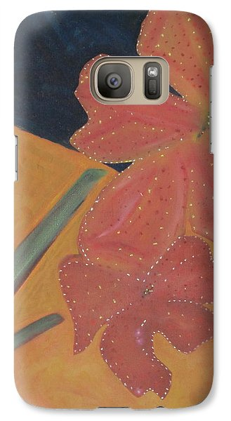 Galaxy Case featuring the painting Two Flowers by Patricia Cleasby