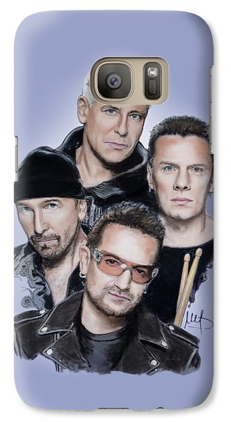 U2 Galaxy S7 Case - U2 by Melanie D