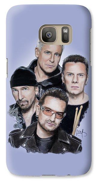 U2 Galaxy S7 Case by Melanie D