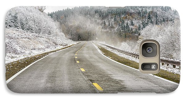 Galaxy Case featuring the photograph Unexpected Autumn Snow Highland Scenic Highway by Thomas R Fletcher