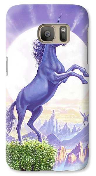 Unicorn Moon Ravens Galaxy S7 Case by Steve Crisp