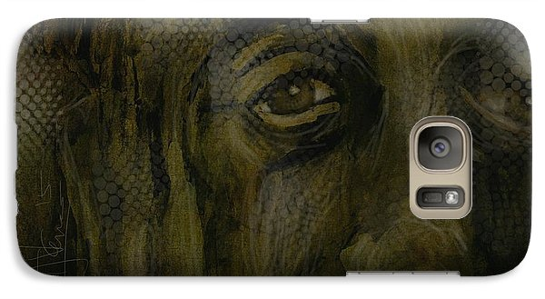 Galaxy Case featuring the painting Untitled Portrait June 6 2015 by Jim Vance