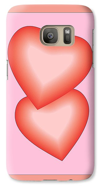 Galaxy Case featuring the digital art Valentine Hearts by Sherril Porter