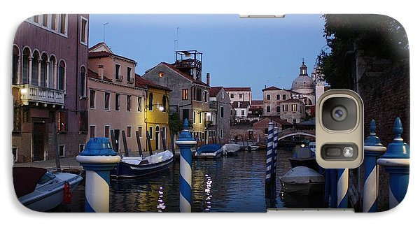 Galaxy Case featuring the photograph Venice At Night by Pat Purdy