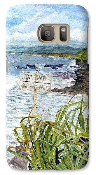 Galaxy Case featuring the painting View From Tanah Lot Bali Indonesia by Melly Terpening