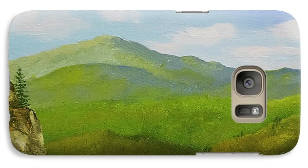 Galaxy Case featuring the painting View From The Bluffs by Frank Wilson