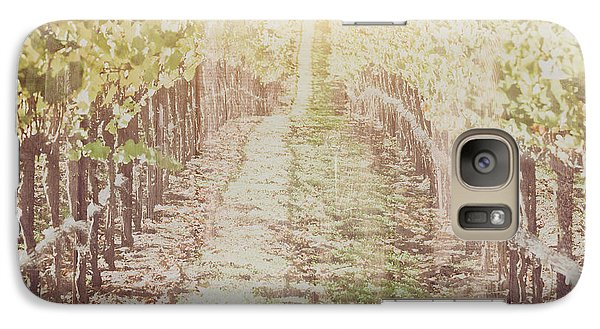 Vineyard In Autumn With Vintage Film Style Filter Galaxy S7 Case