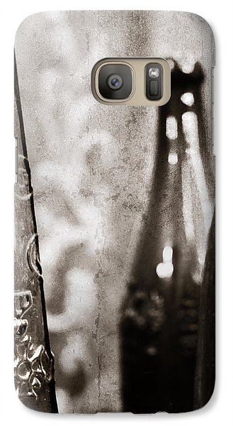 Galaxy Case featuring the photograph Vintage Beer Bottles. by Andrey  Godyaykin