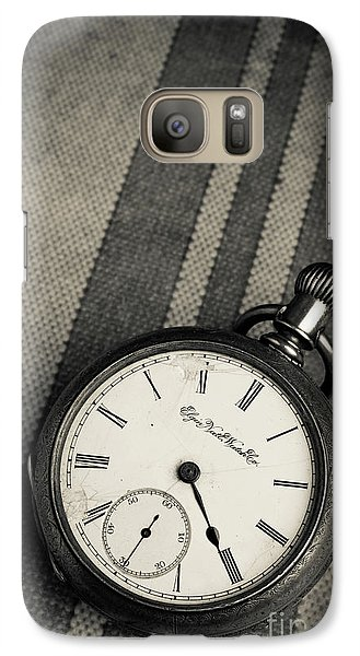 Galaxy Case featuring the photograph Vintage Pocket Watch by Edward Fielding