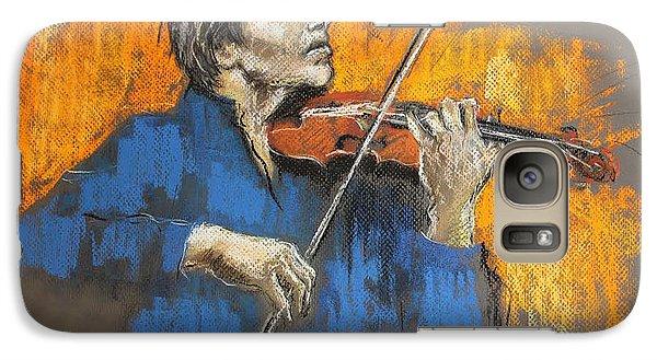 Galaxy Case featuring the pastel Violinist by Debora Cardaci