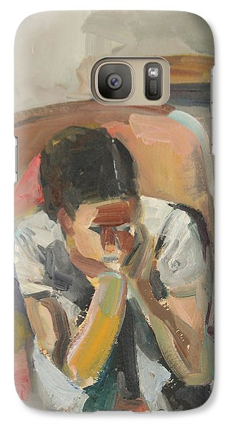 Galaxy Case featuring the painting Wait Child by Daun Soden-Greene