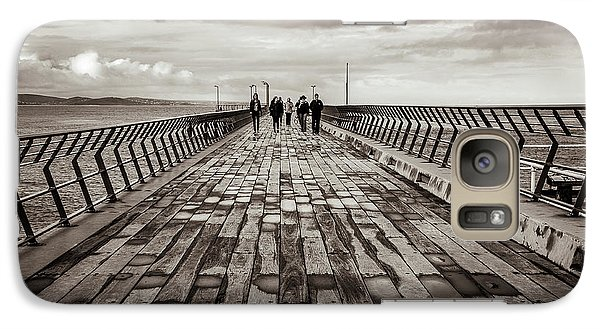 Galaxy Case featuring the photograph Walking The Pier by Perry Webster