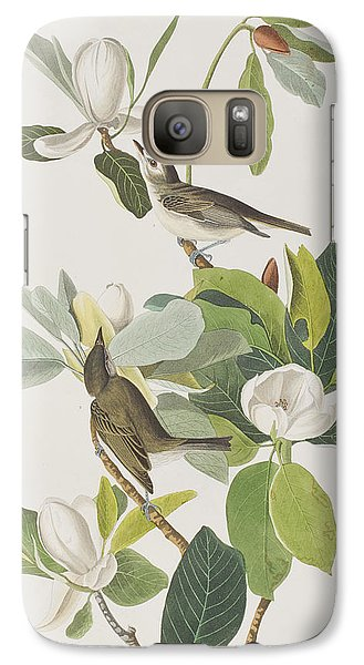 Warbling Flycatcher Galaxy S7 Case by John James Audubon