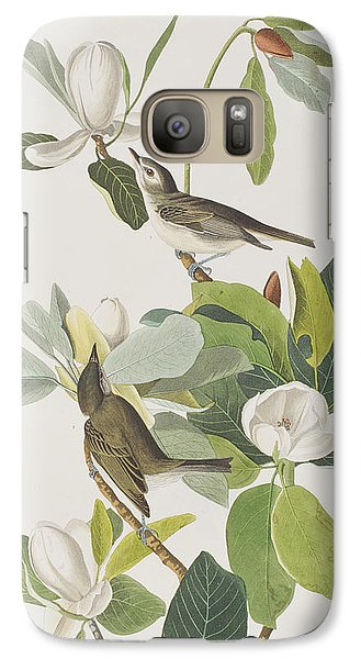 Warbling Flycatcher Galaxy S7 Case by John James Audubon