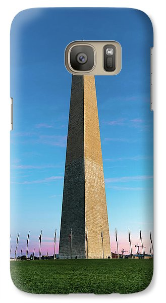 Lincoln Memorial Galaxy S7 Case - Washington Monument  by Larry Marshall
