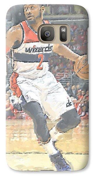 Washington Wizards John Wall Galaxy S7 Case by Joe Hamilton