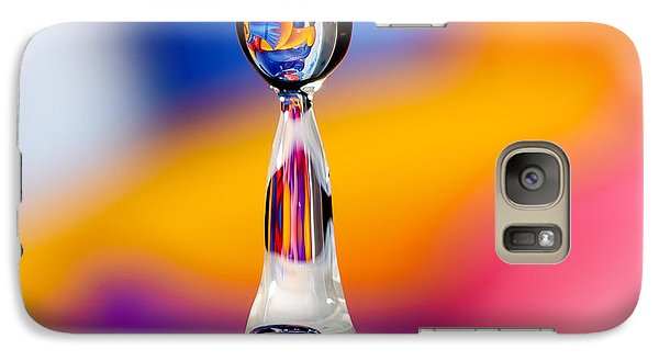 Galaxy Case featuring the photograph Water Drop by Colin Rayner