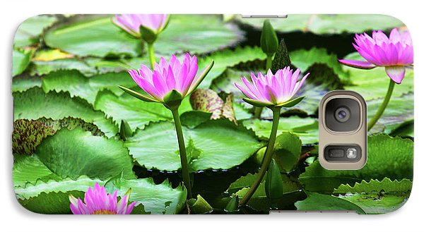 Galaxy Case featuring the photograph Water Lilies by Anthony Jones