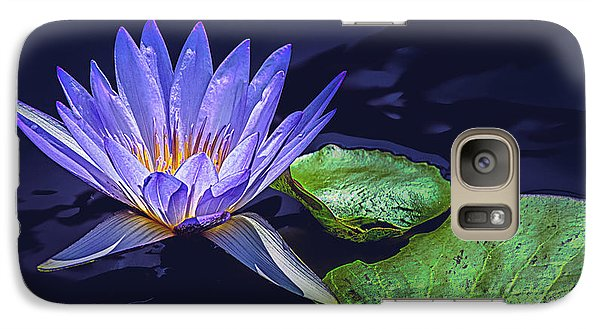 Galaxy Case featuring the photograph Water Lily In Lavender by Julie Palencia