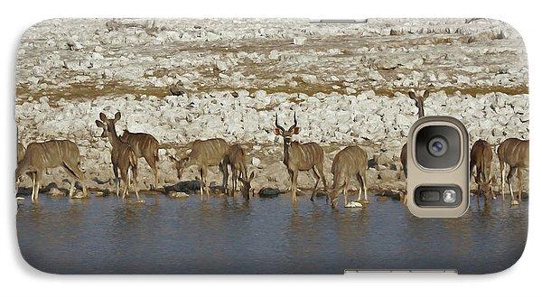 Galaxy Case featuring the digital art Waterhole Kudu by Ernie Echols