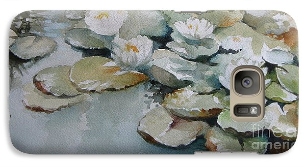 Galaxy Case featuring the painting Waterlilies by Elena Oleniuc