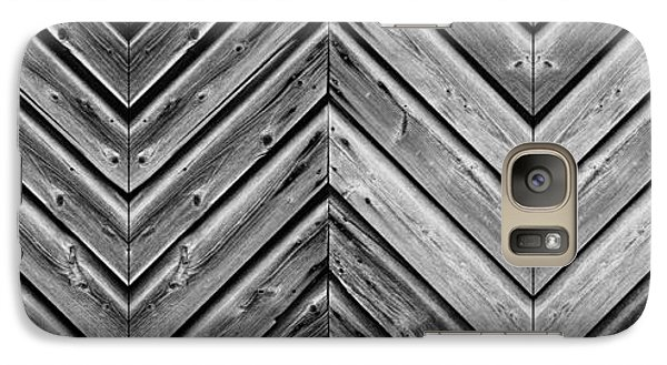 Galaxy Case featuring the photograph Weathered Wood by Larry Carr