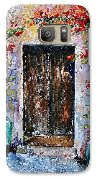 Galaxy Case featuring the painting Welcome by Jennifer Beaudet