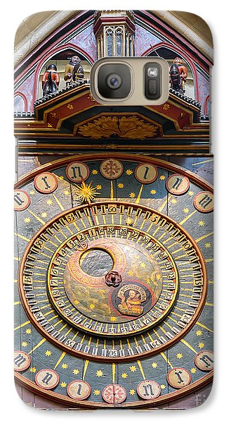 Galaxy Case featuring the photograph Wells Cathedral Clock by Colin Rayner