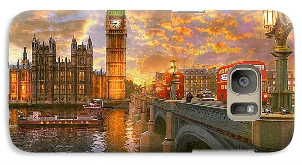 Pigeon Galaxy S7 Case - Westminster Sunset by Dominic Davison