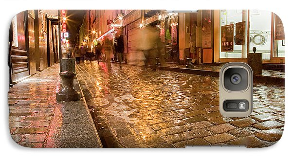 Galaxy Case featuring the photograph Wet Paris Street by Matthew Bamberg